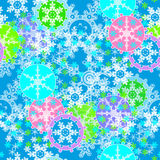 Merry Christmas and Happy New Year background with snowflakes Royalty Free Stock Photography