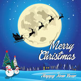 Merry christmas and happy new year background. Suitable for printing, postcard, poster, cover. easy to modify royalty free illustration