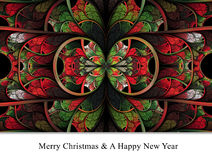 Merry christmas and a happy new year background template Stock Photography