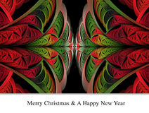 Merry christmas and a happy new year background template Stock Photos