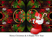 Merry christmas and a happy new year background template Royalty Free Stock Photos