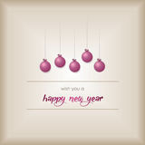 Merry Christmas and Happy New Year Background, vector Royalty Free Stock Images