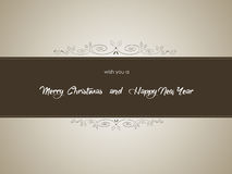 Merry Christmas and Happy New Year Background, vector Stock Images