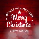 Merry Christmas and Happy New Year 2019 Background royalty free illustration
