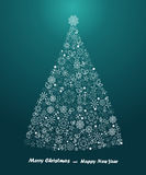 Merry Christmas and Happy New Year Background, vector Stock Photography