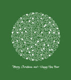 Merry Christmas and Happy New Year Background, vector Stock Photo