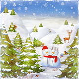 Merry Christmas and Happy new year background Stock Image