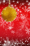 Merry Christmas and Happy New Year background with yellow balls Royalty Free Stock Photo