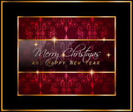 2016 Merry Christmas and Happy New Year Background. For your dinner invitations, festive posters, restaurant menu cover, book cover,promotional, Elegant Stock Photography