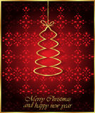 2017 Merry Christmas and Happy New Year background. Merry Christmas and Happy New Year background for your invitations, greetings cards Royalty Free Stock Images