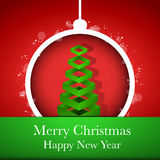 Merry Christmas Happy New Year Ball Stock Photography