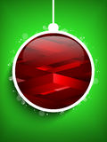 Merry Christmas Happy New Year Ball Geometric Gree Royalty Free Stock Image
