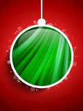 Merry Christmas Happy New Year Ball on Red Backgro Royalty Free Stock Images