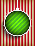 Merry Christmas Happy New Year Ball on Stripe Back Stock Photography