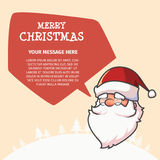 Merry Christmas and Happy New Year Balloon. Merry Christmas and Happy New Year With Santa Talk Balloon Royalty Free Stock Image