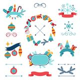 Merry Christmas and Happy New Year banners Stock Photos