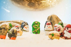 Merry Christmas and Happy New Year beautiful background. Decorat Stock Photography