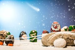 Merry Christmas and Happy New Year beautiful background. Decorat Royalty Free Stock Photo