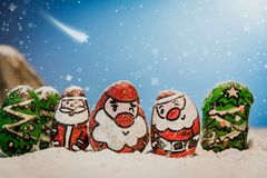 Merry Christmas and Happy New Year beautiful background. Decorat Royalty Free Stock Images