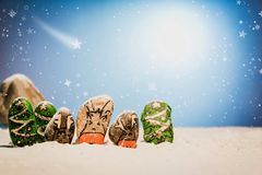Merry Christmas and Happy New Year beautiful background. Decorat Royalty Free Stock Photos