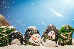 Merry Christmas and Happy New Year beautiful background. Decorat Stock Image