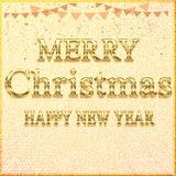 MERRY CHRISTMAS HAPPY NEW YEAR // Beautiful Merry Christmas Banner Transparent Design stock illustration