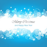 Merry christmas and happy new year blue  background Stock Images