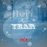 Merry Christmas and happy new year. Blue festive background for congratulations Royalty Free Stock Image
