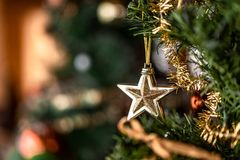 Merry Christmas and Happy New Year Star stock images