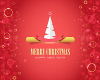 Merry Christmas and Happy New Year Bubbles Royalty Free Stock Photography