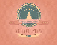 Merry Christmas and Happy New Year Bubbles Stock Image