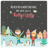 Merry Christmas and Happy New 2016 Year Royalty Free Stock Images