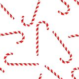 Merry Christmas and Happy New Year. Candy Cane. Seamless pattern Royalty Free Stock Images