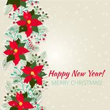 Merry Christmas and Happy New Year Card. Christmas background Royalty Free Stock Image