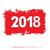 2018 Merry Christmas and Happy New Year card or background. Stock Image