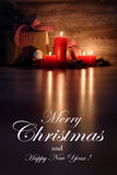 Merry Christmas and happy new year card Royalty Free Stock Photo