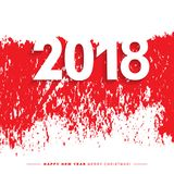 2018 Merry Christmas and Happy New Year card or background. Stock Photography