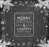 Merry Christmas and Happy New Year Card Royalty Free Stock Images