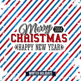 Merry Christmas and Happy new year card on a brigh Royalty Free Stock Photo