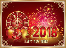 Merry Christmas and Happy New Year 2018 Royalty Free Stock Photography