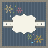 Merry Christmas And Happy New Year Card. With Colorful Snowflakes vector illustration
