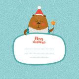 Merry Christmas and Happy New year card Stock Images