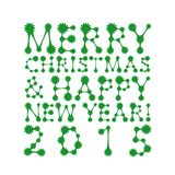 Merry christmas and happy new year card design Royalty Free Stock Image