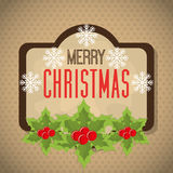 Merry christmas and happy new year card design. Vector illustration eps 1o Royalty Free Stock Photo