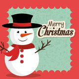 Merry christmas and happy new year card design. Vector illustration eps 1o Stock Photography