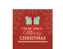 Merry christmas and happy new year card design. Vector illustration eps 1o Royalty Free Stock Images