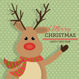 Merry christmas and happy new year card design. Vector illustration eps 1o Stock Photos