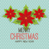 Merry christmas and happy new year card design. Vector illustration eps 1o Stock Images