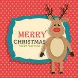 Merry christmas and happy new year card design. Vector illustration eps 1o Stock Photo