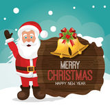 Merry christmas and happy new year card design Stock Photos